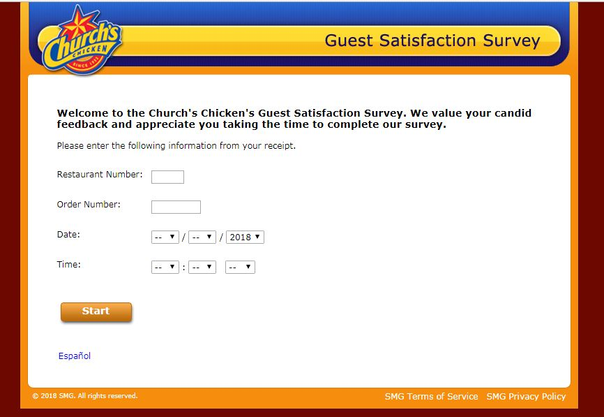 church chicken survey