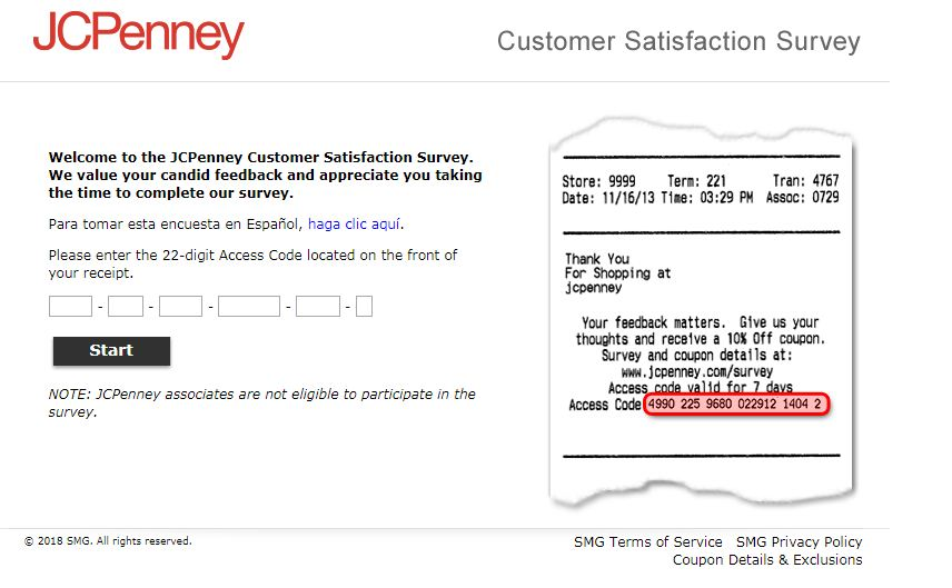 jc penney survey