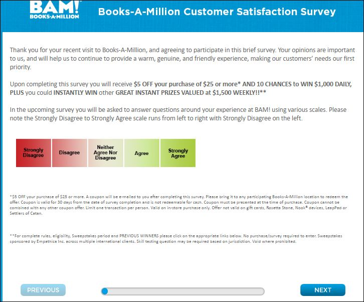 book A million survey