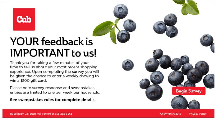 cub food survey