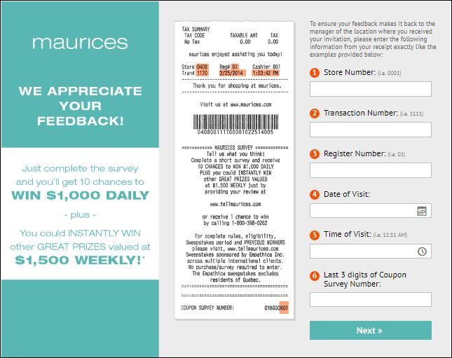 Tell Maurices Feedback