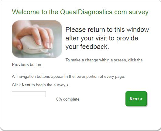 quest diagnostics survey