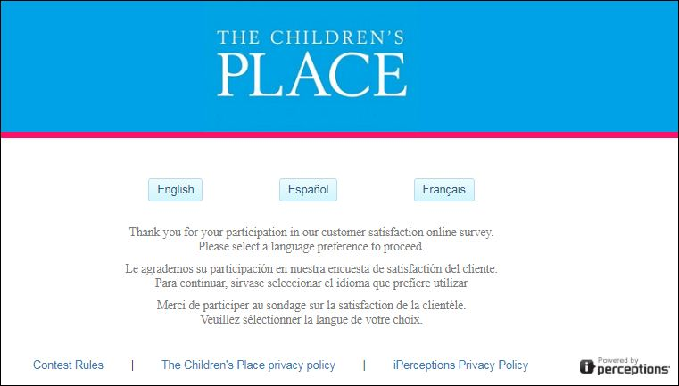 children's Place Guest Satisfaction Survey