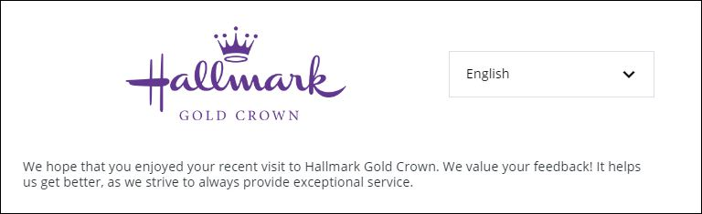 hallmark customer Feedback survey