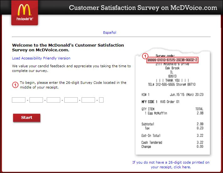 mcdonald survey