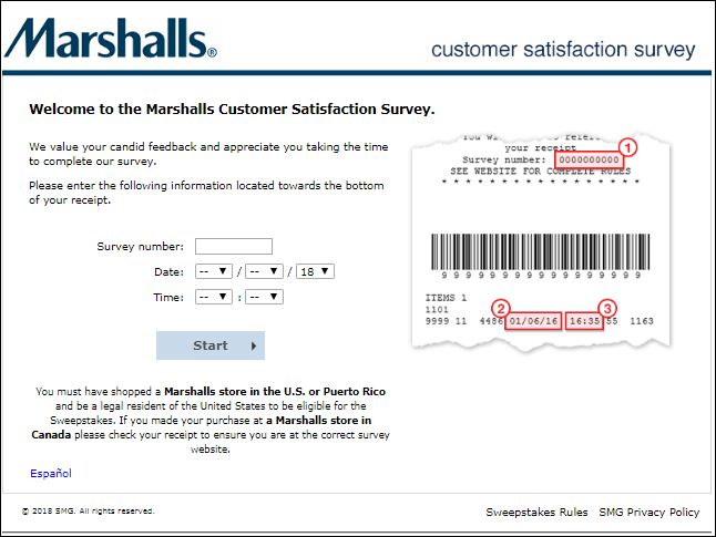 marshalls client satisfaction survey