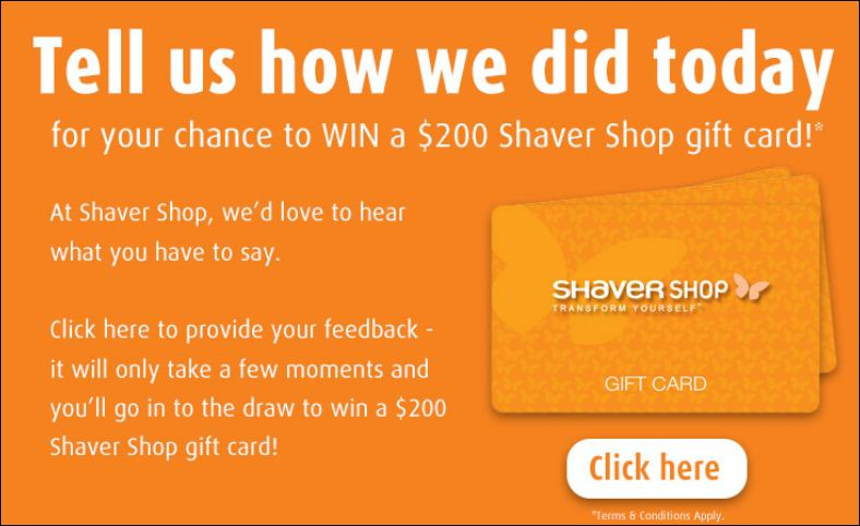shaver shop guest experience survey