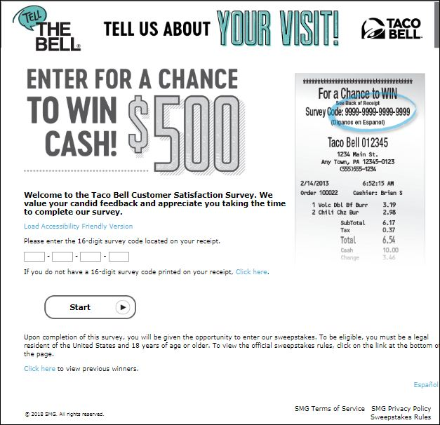 tellthebell.com Survey Homepage