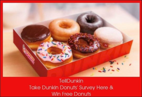 tell dunkin donuts survey