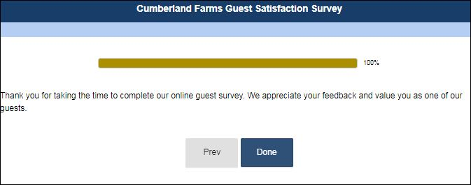 Cumberland Farms customer satisfaction survey