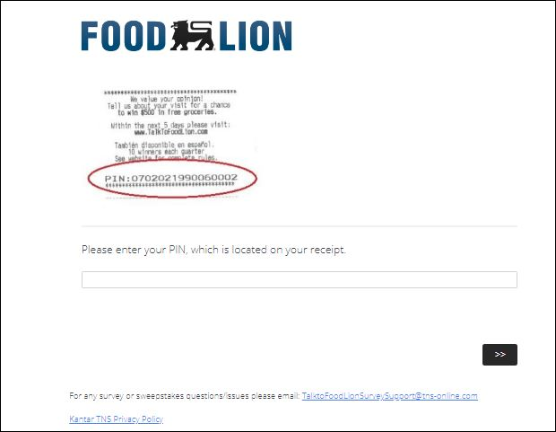 Food Lion Customer feedback Survey