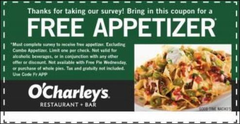 O' Charley's Guest Satisfaction Survey