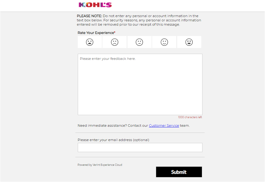 Kohl's Store Products Survey