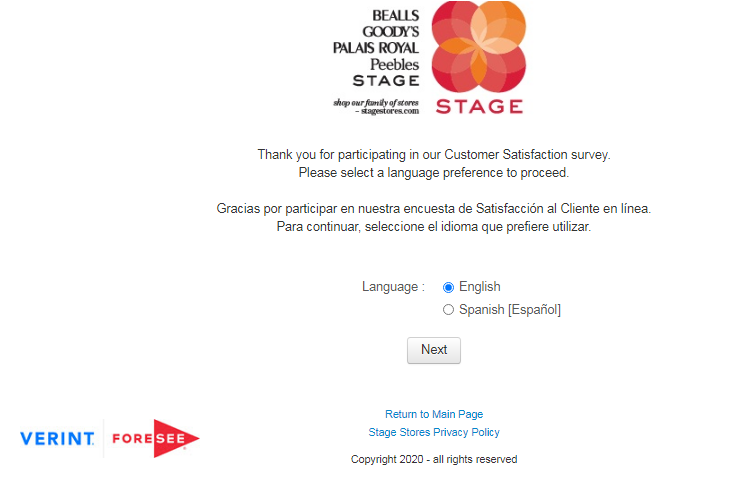 Stage Store Customer Satisfaction Survey